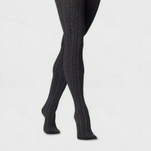 NWT Womens' Cable Sweater Tights Grey M/ L